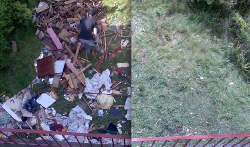 débarras jardin avant après