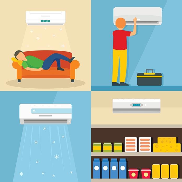 illustration de la climatisation chez soi